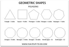 Geometric Shapes Polygons