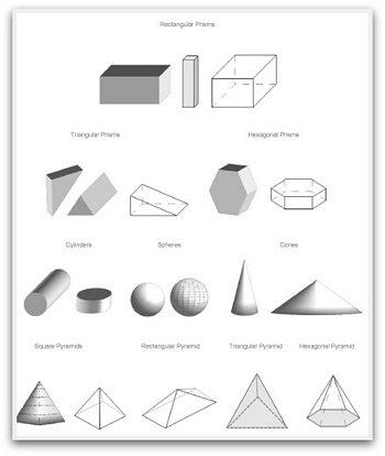3D geometric shapes to print