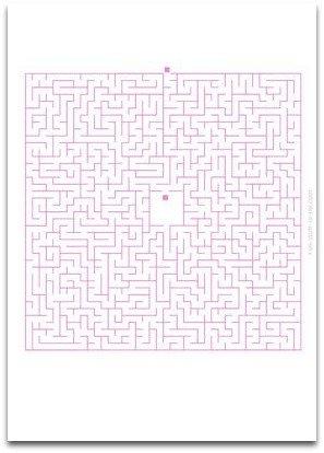 medium maze, simple maze