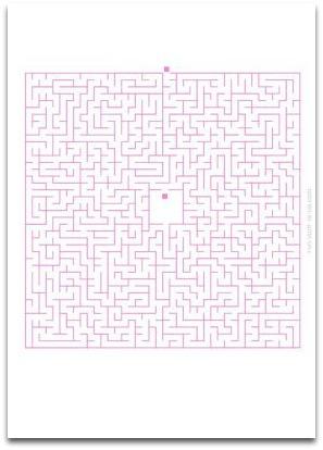 medium maze, simple maze