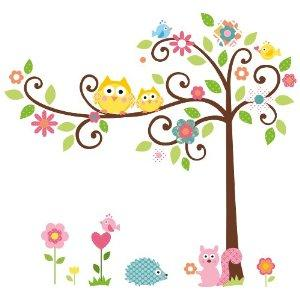 Owl in Tree Wall Decal